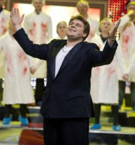 """""""Dviračio šou"""" personažas Saulius Poška, akt. Kristijonas Bartoševičius"""
