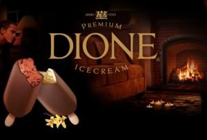 """Ledų """"Dione"""" reklama"""