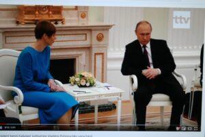Kersti Kaljulaid ir Vladimiras Putina