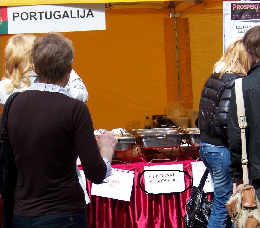 EUROPOS DIENA: PORTUGALIŠKI CEPELINAI BE VYNO