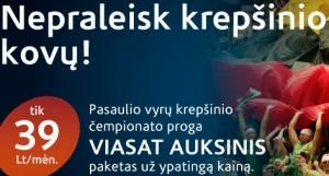 """KREPŠINĮ RODYS """"VIASAT"""": DŽIAUGSIS NE VISI..."""