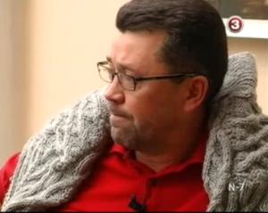 Kadras iš TV laidos su Vytautu Šapranausku
