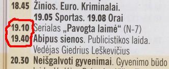 """Žurnalo """"Žmonės"""" 2011 m. balandžio 26 d. TV programos iškarpa"""
