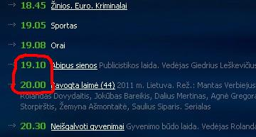 lnk.lt 2011 m. balandžio 26 d. LNK TV programos iškarpa