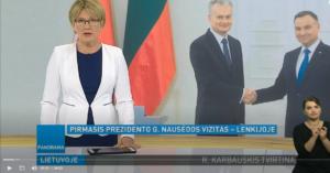 prezidentas gitanas nausėda pagrindinės lenkų žinių laidos