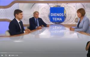 """Audronius Ažubalis, Mariuszas Antonewiczius, Rita Miliūtė LRT laidoje """"Panorama"""""""